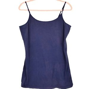 Indigo Adjustable Strap Cami Tank